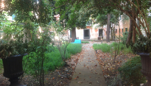 Exclusive garden in the heart of venice